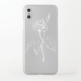 Black Rose Clear iPhone Case