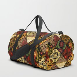 Rustic colorful patchwork. Duffle Bag