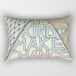 Be Kind Make Change Rectangular Pillow