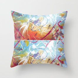 Yo Yo  Ma               by      Kay Lipton Throw Pillow