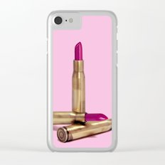 LIPSTICK BULLET Clear iPhone Case