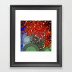 Happy - Tangerine Framed Art Print