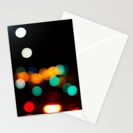 Blurred City Lights Stationery Cards
