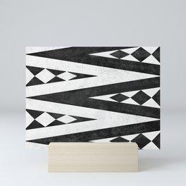 Tribal pattern in black and white. Mini Art Print