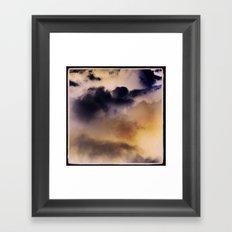 clouds Framed Art Print