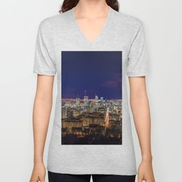 Montreal Nightlights Unisex V-Neck
