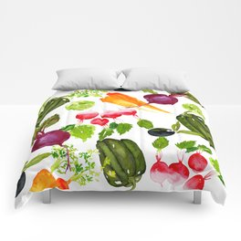 Mixed Vegetables Comforters