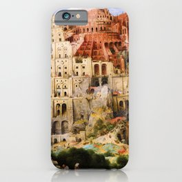 Pieter Bruegel - Tower Of Babel - Digital Remastered Edition iPhone Case