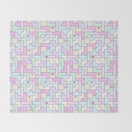 Kawaii Tetris Throw Blanket