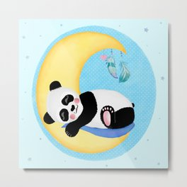Baby Panda Boy Metal Print