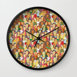 Pattern #75 - The gaze of sisterhood Wall Clock