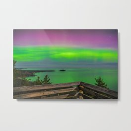Sugar Loaf Northern Lights Metal Print