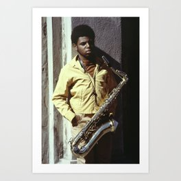 Sax Player in New Orleans Art Print
