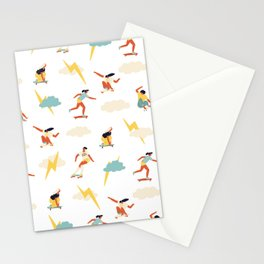 You go, girl pattern! Stationery Cards