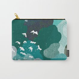 M+M Emerald Forest Bird's Eye View by Friztin Carry-All Pouch