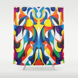 Same Different Thing Shower Curtain