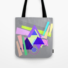 lines and triangles Tote Bag