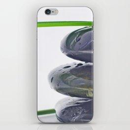 Waterdrops on Hot Stones iPhone Skin