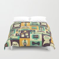 risa rodil Duvet Covers featuring Empty Hearse by Risa Rodil