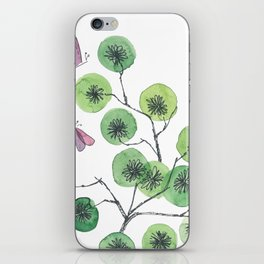 a touch of summer fragrance - white background iPhone Skin