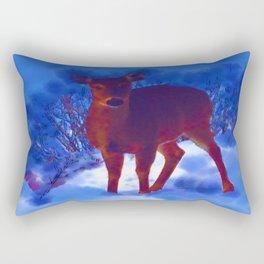 Searching deer Rectangular Pillow