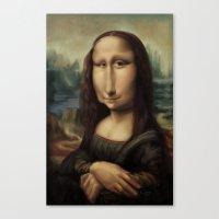 mona lisa Canvas Prints featuring Mona Lisa by Alexander Novoseltsev