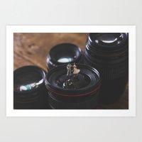 Dancing on lens - Encolhi as Pessoas Art Print