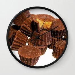 Mini Chocolate and Peanut Butter Treats Wall Clock