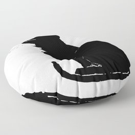 Life With Black Cats Vector Floor Pillow