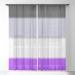 Asexual Pride Flag Sheer Curtain