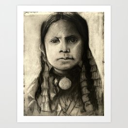 Portrait of Standing Holy Art Print