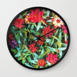 Goodbye Flowers 2 Wall Clock