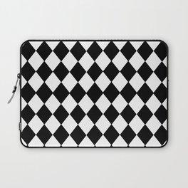 HARLEQUIN BLACK AND WHITE PATTERN #2 Laptop Sleeve