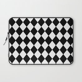 HARLEQUIN BLACK AND WHITE PATTERN #2 Laptop Sleeve