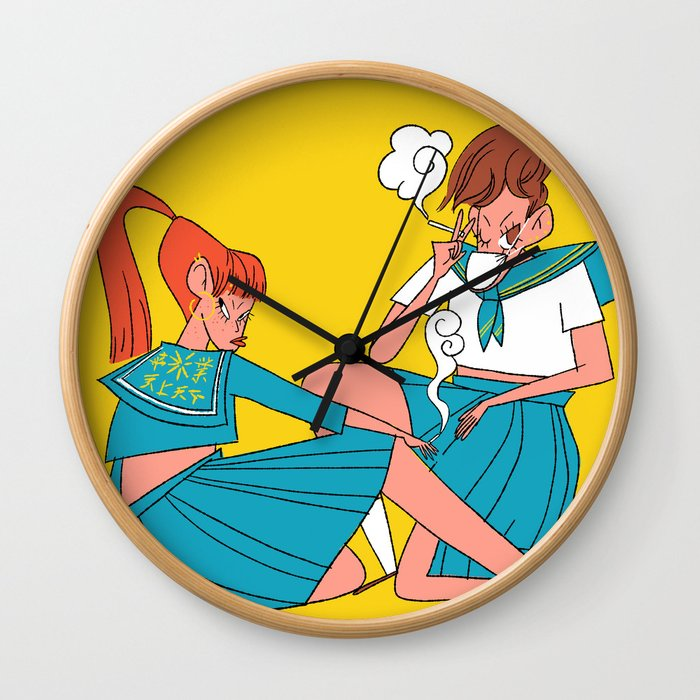 Japanese Yankees Wall Clock