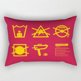 Care Instructions: Crewman Rectangular Pillow