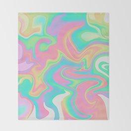 holographic unicorn Throw Blanket