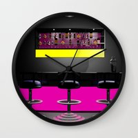 disco Wall Clocks featuring Disco by Littlebell