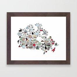 Canada Map Framed Art Print