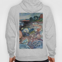 Edvard Munch - Shore with Red House Hoody