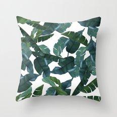 Banana Leaf Decor #society6 #decor #buyart Throw Pillow