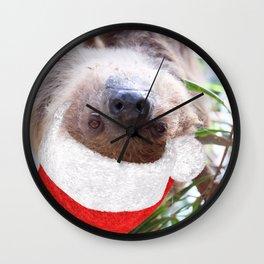 Cute Christmas Sloth Wall Clock