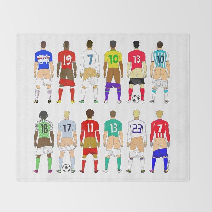 Soccer Butts Throw Blanket
