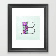 B b Framed Art Print