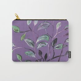 Silky Lavender Greenery Leaves Carry-All Pouch
