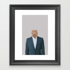 Business Cat Framed Art Print