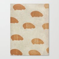 hippo Canvas Prints featuring hippo by sinonelineman