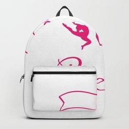Look Like A Beauty Train Like A Best - Women Gymnastics Gift Backpack