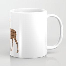 Plaid Moose: Brown Coffee Mug