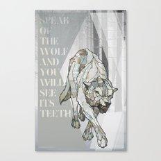 Speak of the Wolf Canvas Print